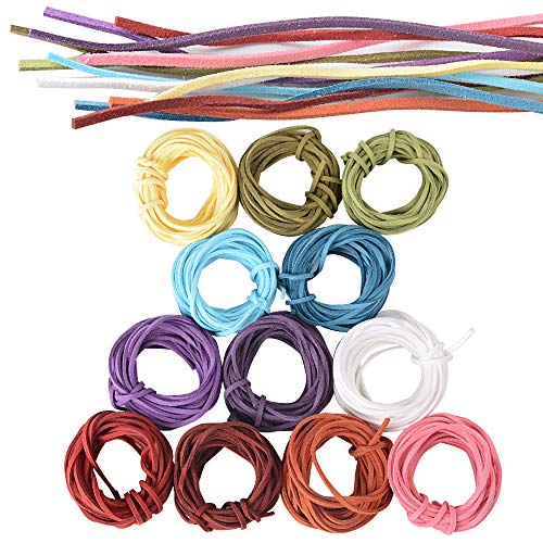 ce28261c70ba 3mm x 5m Cuerdas Cuero Cordón Ante Plano Cuerda Gamuza