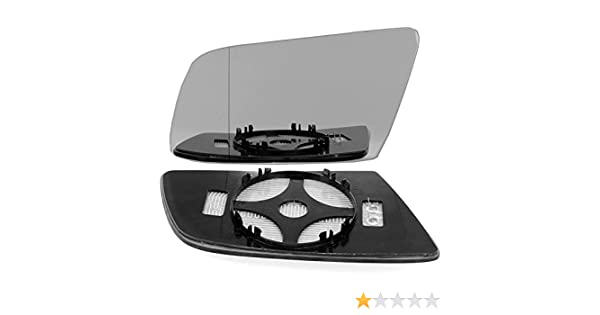 Replacement Clip On Wide Angle Heated Mirror Glass LHS 2003-2010 Bmw 6 Series