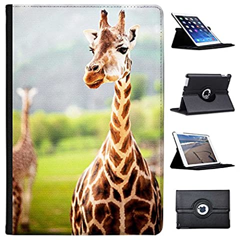 "africain Girafe simili cuir Folio Presenter Coque Sac avec support de visionnage pour tablettes Apple iPad Pro 10.5"" (2017 Version) Giraffe In Safari Park"