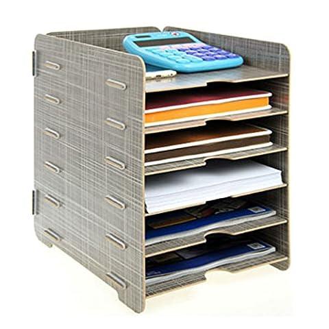 ZZYY Fichier Cabinet Boîte de Rangement en Bois Format A4