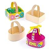 Cestini di Pasqua Fai da Te per Bambini da Creare Personalizzare ed Esporre come Idea Creativa (confezione da 6)