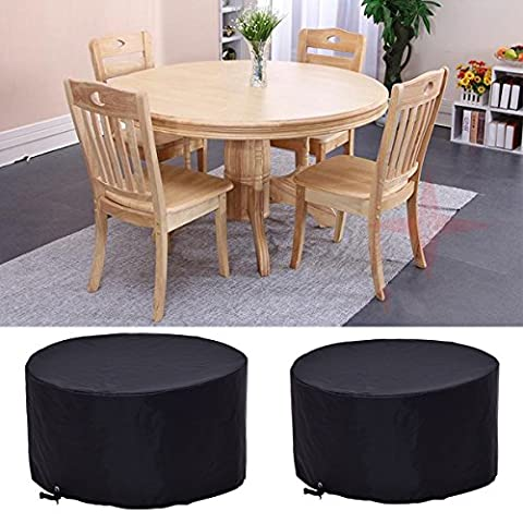 Costway 4-6 Seat Circular Table Cover Large Round Waterproof Patio Furniture Covers (Dia. 185 cm x H 110 cm)