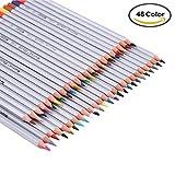 SUNYOU 48 Farben Ölige Buntstifte Raffine Marco Colour Pencils für Kinder Malerei,Künstler Skizzierung Zeichnung