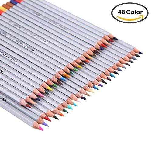 SUNYOU 48 Farben Ölige Buntstifte Raffine Marco Colour Pencils für Kinder Malerei,Künstler...