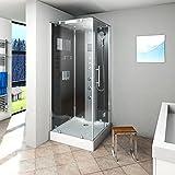 AcquaVapore DTP6038-2301R Dusche Duschtempel Komplett Duschkabine -Th. 100x100, EasyClean Versiegelung der Scheiben:2K Scheiben Versiegelung +99.-EUR