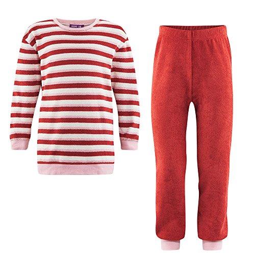 Frottee-Schlafanzug Bio-Baumwolle, Red Clay/Sand, Gr. 110/116 (Mädchen Red Schlafanzug)