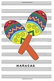 Maracas: Blank Sheet Music Notebook