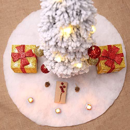 Kongqiabona Weihnachtsbaum Rock Schnee Plüsch Baum Rock Szene Layout Liefert Frohe Weihnachten Dekor Weihnachten Werkzeug -