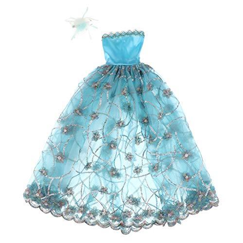 Fenteer Prinzessin Kleid Abendkleid Hochzeit Kleidung für 1/3 BJD Puppen, Kinder Spielzeug Xmas Weihnachten Geschenk - # 3 (Puppe Kleidung Prinzessin)