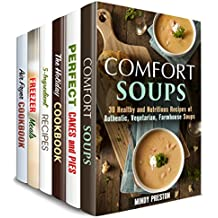 Secrets of Comfort Meals Box Set (6 in 1) : Soups, Cakes, Slow Cooker, Air Fryer and Other Homestyle Recipes (English Edition)