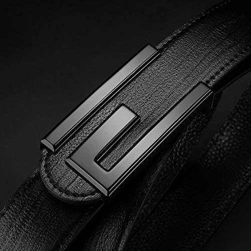 ADGJLI Neue Marke Top Echtes Leder Herren Dünne Gürtel Mode Stil Glatte Schnalle Dekorative Gürtel Für Männer - Neue Mens Black Dress Hose