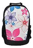 Rucksack für Jungen Mädchen Damen Herren Kinder - Schulrucksack Schulranzen, Ranzen für die Schule - Backpack für die Stadt/zum Sport für Kinder & Jugendliche - Cooles Design - Pink Flowers