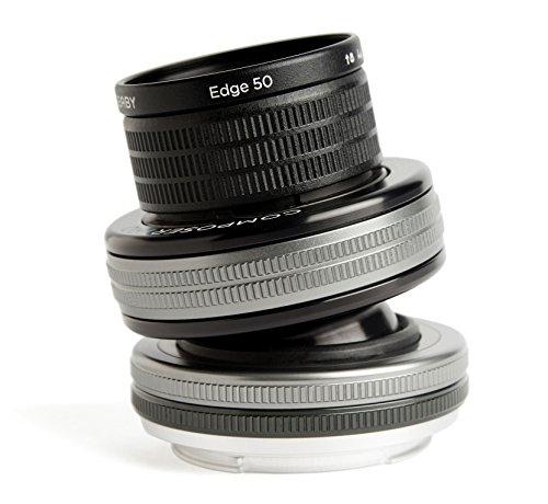 Lensbaby Composer Pro II inkl. Edge 50 Sony E/ schwenkbares Tilt-Objektiv / ideal für selektive Schärfeeinstellungen umrandet mit sanfter Unschärfe / Brennweite 50 mm, Blende f/3,2 / 20 cm Naheinstellgrenze / passend für Sony Systemkameras und Spiegelreflexkameras - Optic 80 Edge Lensbaby