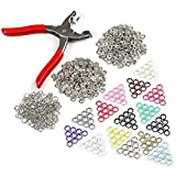 LEMESO LIHAO Metall Druckknopf Set mit Zange Snaps Druckknöpfe Set Nähfrei Werkzeug für DIY Basteln