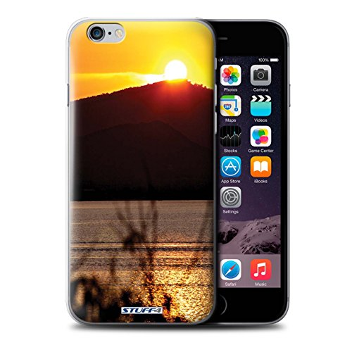 STUFF4 Phone Case / Cover for iPhone 6+/Plus 5.5 / Treeline Design / Sunset Scenery Collection Cima della montagna
