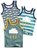 Jungen Boys Unterhemd 3-Packung Top Undershirts Set Thunder XL