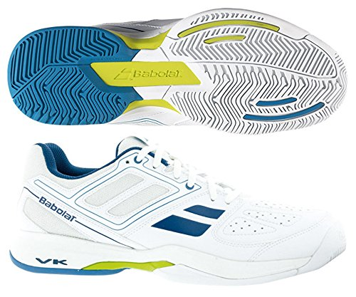Babolat Pulsion BPM All Court Herren-Tennis Turnschuhe / Schuhe-White-37