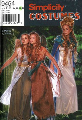nittmuster Damen Fee Kostüme Gr. 14–16–18–20 (Frau Fee Kostüme)