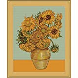 Kit de punto de cruz. Los Girasoles (Van Gogh)