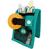 Mobiclinic | MINIKEEN'S | Organizador de enfermería | Color verde | Para bolsillo de bata o pijama | Nuevo tamaño más estrecho | Perfecto para enfermeros y profesionales de la salud
