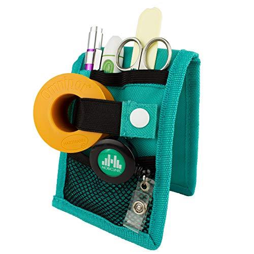 Mobiclinic | MINIKEEN\'S | Organizador de enfermería | Color verde | Para bolsillo de bata o pijama | Nuevo tamaño más estrecho | Perfecto para enfermeros y profesionales de la salud
