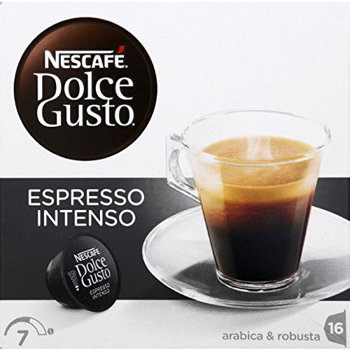 Dolce Gusto - Dosettes de café moulu pur arabica, Espresso Intenso - Les 16 dosettes, 128g - Prix Unitaire - Livraison Gratuit Sous 3 Jours