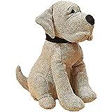 CasaJame Deurstopper van stof kleine hond hoogte 23cm grijs