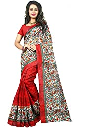 Sarees For Women Latest Design New Party Wear Buy In Low Price Today Offer Sale Multi Color Bhagalpuri Silk Fabric...