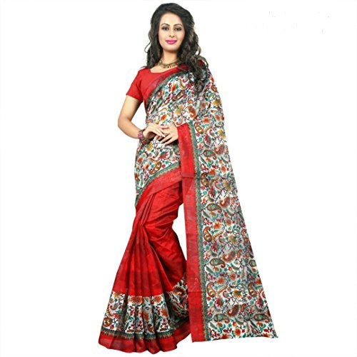 Sarees (Women's Clothing Saree For Women Latest Bhagalpuri Design Wear New Collection in Latest With Designer Blouse Free Size Beautiful Saree For Women Party Wear Offer Designer Sarees With Blouse Piece)