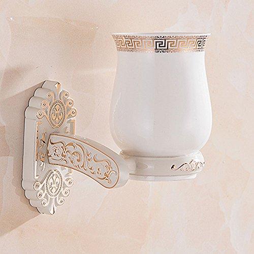 Porte-gobelet à une tasse à dents porte-gobelet blanc ivoire assise sculptée européenne noir porte-gobelets antiquités porte-gobelets unique, couleur: blanc, taille: 12 * 19cm