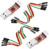 Anpro 2 × CP2102 USB zu TTL Konverter 5PIN Stecker Modul mit eingebautem für 3.3V und 5V