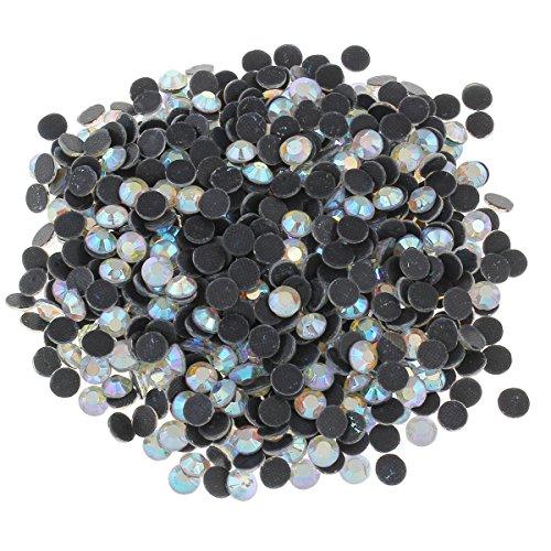 Perlin - Hotfix Strasssteine, 2880stk, Crystal AB - Weiss AB - Kristall AB - Klar AB 4mm SS16 AAA Qualität, 20 gross, zum Aufbügeln, Hotglue, Glitzersteine Rhinestone Großhandel Glass Strass Perlen 415