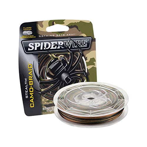 SpiderWire Stealth Superline Angelschnur, geflochten, Unisex-Erwachsene, Camouflage, 20/8 Pound Test-300 Yard