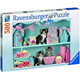 Ravensburger Puzzle 14684 - Katzen im Cupcakeregal 500 Teile