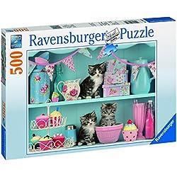 Ravensburger - Gatitos e Cupcakes, rompecabezas de 500 piezas (146840)
