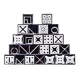 DYFO 24er Set Kugel Knobelspiele 3D Puzzle Logikspiele Geduldspiele Spielzeug Magisches Spielzeug für Kinder und Erwachsene