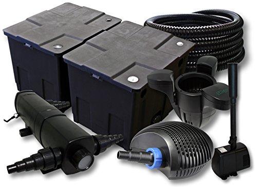 sunsun-filtro-set-60000l-stagno-con-18-w-laghetti-40-w-eco-pompa-25-m-tubo-skimmer-fontana