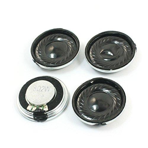 Sourcingmap® 4Stück 2W 8 Ohm 23mm Diarunde Metall Shell Interne Magnet Lautsprecher de de
