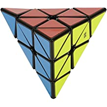 Roxenda MoYu Magnético Pyraminx Liso Pirámide Velocidad Cubo Mágico Tetraedro Rompecabezas negro con soporte