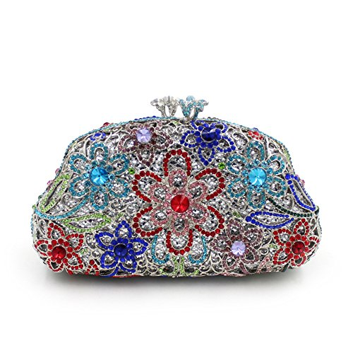 Damen-Abendessen Set Strass Diamanten und Diamanten High-End-Diamant-Wallet Glänzende Handtasche Bankett color 1