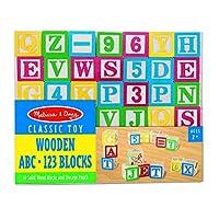 Melissa & Doug Deluxe Wooden abc/123 Blocks Set, Developmental Toys (Storage Pouch, 2.5cm Wooden Blocks, 50 Pieces)