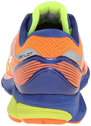 Saucony - Zealot, Scarpe da corsa da uomo Violett (Naranja / Lima / Azul marino)