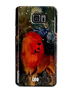 Omnam Sunsign Leo With Tiger Effect Printed Designer Back Case Samsung Galaxy Note 5