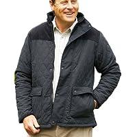 Socks Uwear Mens Lewis Country Estate Quilted Fleece Coat - Black - XX-Large