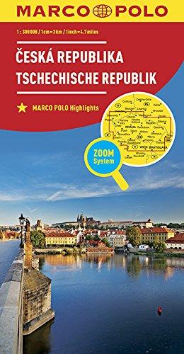 MARCO POLO Länderkarte Tschechische Republik 1:300 000: Wegenkaart 1:300 000 (MARCO POLO Länderkarten) -