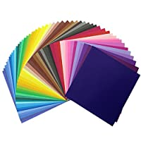 100 Sheets 50 Color Single Origami Paper Square Crafting Paper Folding Strips 6 by 6 Inch