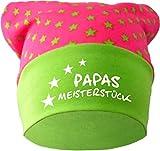 KLEINER FRATZ Baby KOPFTUCH Mütze (Farbe pink-lime) (Gr. 2 (68-98) Papas Meisterstück/FAT