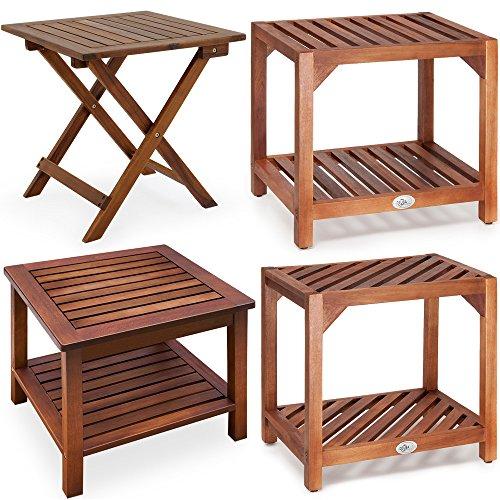 Beistelltisch Klapptisch Holztisch Gartentisch Kaffeetisch Telefontisch Bistrotisch aus Akazienholz