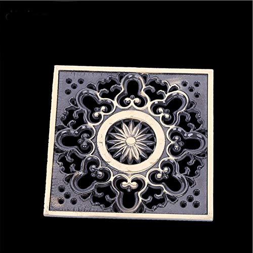 AXWT Tout le bronze Épaissir Creative Drain Machine à laver Drain de plancher Drain de salle de bains Vert Bronze Printemps Déodorant