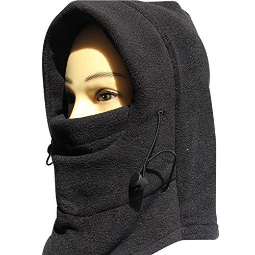 Preisvergleich Produktbild Faithyoo Mütze mit Gesichtsschutz, Kapuze für Outdoor-Sport, doppellagig, 6-in-1Thermo-Fleece-Mütze und Nackenwärmer für Fahrrad, Motorrad, Ski color-4